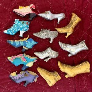 Miniature Shoe Collectors Set of 12 Tiny Figurines